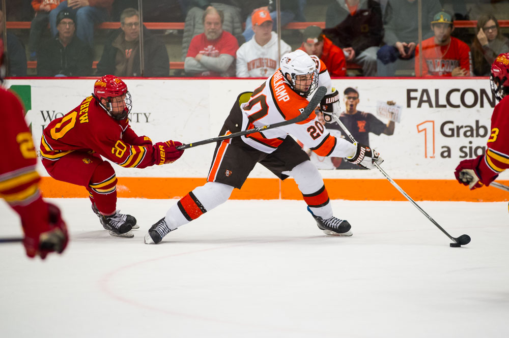 Falcons Tally Two in Third to Down Bulldogs 3-2