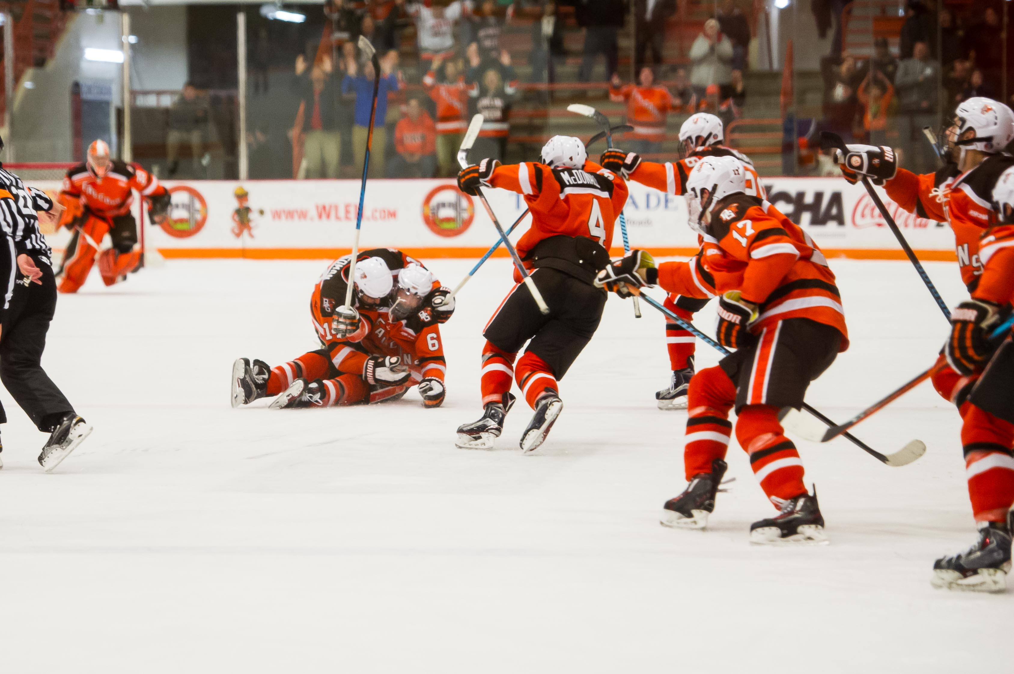 Miracle McLain: Shorthanded goal in OT earns Falcons sweep
